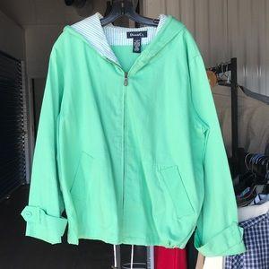 Denim & Co cotton hoodie jacket Sz XL